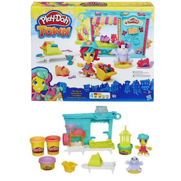 Play Doh Playdoh Town Pet Store(includes 4 cans of Play-Doh Modeling Compound) 3+ Years